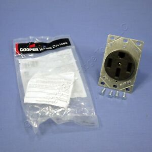 Cooper Flush Range Receptacle Oven Stove Outlet 50A 125/250V 14-50R 1258 Bagged
