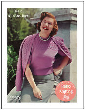 Classic Twinset 1950's Vintage Knitting Pattern - Larger size knitting