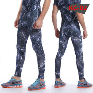 Mens Workout Compression Tights Apparel Gym Under Base Layer Running Long Pants