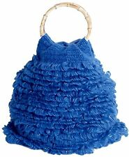CONMIGO Londra B 011 BLU HAND Knitted FASHION Bags