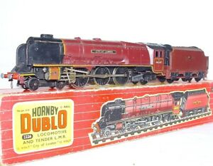 "Hornby DUBLO DC OO 1:76 British LMS ""CITY OF LONDON"" STEAM LOCOMOTIVE Boxed `60!"