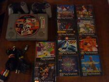 Sony PlayStation 1 mit 2 Controllern - 10 Spielen - funktionstüchtig