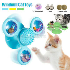 Turning Windmill Cat Toy Puzzle Turntable Teasing Toy Pet Glow Ball