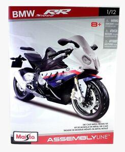 BMW S 1000 RR - 1:12 Scale Die-Cast S1000RR Motorbike Model Kit by Maisto - New