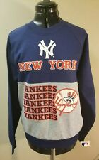 Vintage MLB 80s New York Yankees Baseball LOGO Sweatshirt Size M OG Rare NYC
