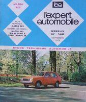Revue technique MAZDA 323 essence 1000 et 1300 cm3 EXPERT RTA 146 1978
