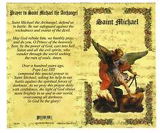 Saint St. Michael - Biography, prayer, Feast Day, Patron of, ect... Folder Card