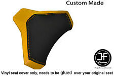 BLACK & YELLOW VINYL CUSTOM FITS DUCATI 848 1098 1198 SEAT COWL PAD COVER ONLY