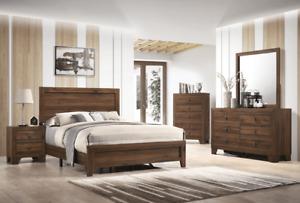NEW 5PC Brown Rustic Queen King Twin Full Bedroom Set Modern Furniture B/D/M/N/C