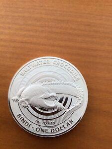 1 Dollar Australien 2013 Bindi Saltwater Crocodile Silberunze