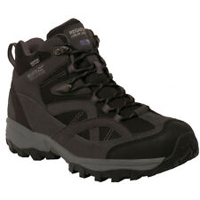 REGATTA MENS ALDERSON MID WALKING WATERPROOF BOOT BRIAR GRANITE BLACK RMF481