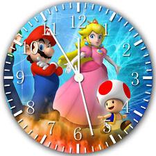 Super Mario Peach Frameless Borderless Wall Clock Nice For Gifts or Decor X36