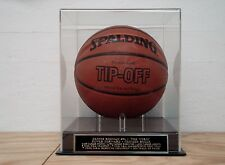 Basketball Case With A Dennis Rodman Chicago Bulls Nameplate For A Signed Ball