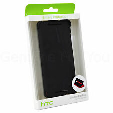 New Genuine HTC One Mini M4 HC V 85 Double Dip Flip Case Cover Stand - Black/Red
