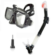 Diving Mask And Swimming Snorkel Full Dry Breathing Tube For Gopro