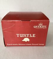 QUOIZEL HANDMADE STAINED GLASS TURTLE TABLE LAMP BRASS TIFFANY STYLE TF6563R NIB