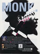 Thelonius Monk Downbeat Trade Press Advert TRANSPARENT