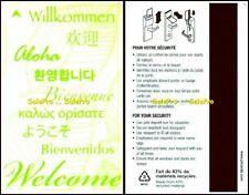 HILTON INTERNATIONAL WELCOME WILLKOMMEN BIENVENUE BIENVENIDOS HOTEL KEY CARD