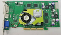 nVIDIA GEFORCE FX5200 Ultra AGP 128MB DOS Retro GAMING VIDEO CARD WORKING #H49
