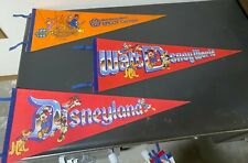 Lot of 10 vintage theme park pennants -Disney, Knotts Berry Farm, Magic Mountain