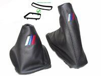 Schaltsack Handbremsmanchette Fur BMW E46 99-05 Leder M3 Logo Stickerei + Rahmen