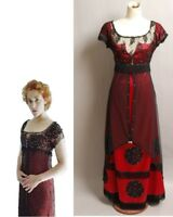 Titanic Rose Evening Ball Gown Party Victorian Dress Outfit Cosplay Costume