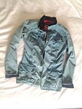 Barbour Vintage International Waxed Jacket Demin Blue size 12 Union Jack lining