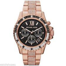 Relojes de pulsera Clásico de acero inoxidable oro rosa
