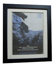 U2+One+POSTER+AD+RARE ORIGINAL 1992+GALLERY QUALITY FRAMED+EXPRESS GLOBAL SHIP