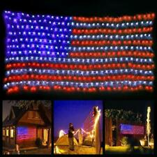 American US Flag LED String Light July 4th Decorative Hanging Lamps Waterproof