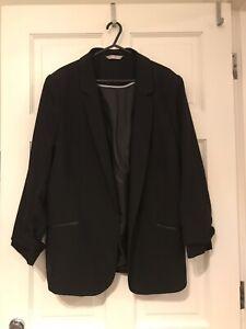 "Ladies George Black Dress Jacket Size 40"" Chest"