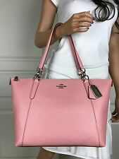 NWT COACH PALE PINK(BLUSH) HIGH QUALITY LEATHER SHOULDER TOTE BAG PURSE HANDBAG