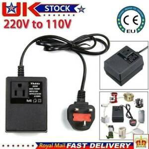 220V/240V To 110V/120V Electronic Travel Power Voltage Converter UK Plug