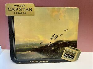 Wills Capstan Tobacco Freestanding Cardboard Sign. Vintage and Original