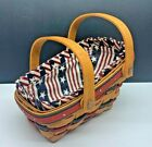 Longaberger 1996 Summertime Basket with Liner and Protector