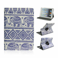 """For Craig CMP765Q 7"""" Inch Tablet Indian Elephant Rotating Folio Case Cover"""