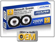 """RENAULT SCENIC PORTA POSTERIORE SPEAKER Alpine 13cm 5.25 """" altoparlante auto kit"""