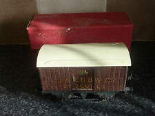 VINTAGE HORNBY TRAINS O GUAGE PRIVATE OWNERS VANS 1940-1 JACOB & CO'S BISCUITS