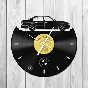 Vinyl Wall clock BMW e34 Gift idea Handmade Home decor OLDTIMER Auto Legend