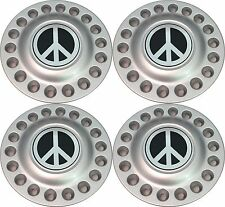 1998-2005 VW BEETLE Bug Wheel Hub Center Cap SET with Chrome Peace Sign NEW
