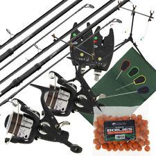 2x Carp Fishing Rods 2x 2BB Reels 2x Bite Alarms Rod Pod Mat 4pc Tools & Boilies