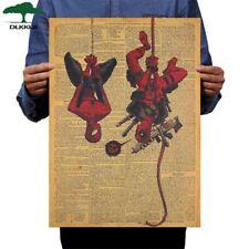 Marvel dc Poster large Deadpool Spiderman Harley Quinn joker Freddy Krueger