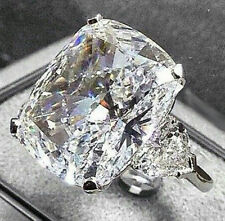 15 ct Cocktail Party Ring inspired 925 Sterling silver cushion Three Stone Cz nw