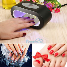 9W LED Nail Art UV Lamp Light Dryer Curing Machine Gel Polish Salon Home US Plug