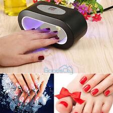 9W LED Nail Art UV Lamp Light Dryer Curing Machine Gel Polish Salon Home US Plug