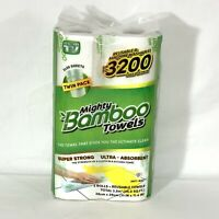 Mighty Bamboo Towels Reusable Washable Strong Antibacterial As Seen On TV 2 pack