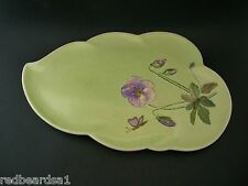 Royal Winton Grimwades Pansy Vintage China Serving Plate Handpainted M Sutcliffe