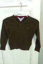 TOMMY HILFIGER Feinstrick Pullover Braun Gr. 8 128 (GE135)