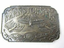 Barnstormers State Fair Vintage 1970s Belt Buckle Collectible Airplane Buckle