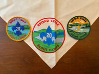 Rare 20 Vintage BROAD CREEK Boy Scout Camp NECKERCHIEF & PATCHES BSA Ca.1965-67